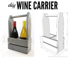 DIY wine carrier with free plans.