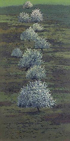 Stéphane Erouane Dumas(French, b.1958)  Les pommiers   2006 #tree #art
