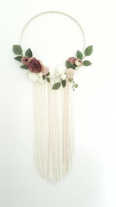 Hey, I found this really awesome Etsy listing at https://www.etsy.com/uk/listing/541232571/boho-dreamcatcher-floral-wreath