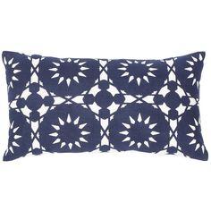 Casablanca Navy Lumbar Pillow design by Allem Studio (155 CAD) ❤ liked on Polyvore featuring home, home decor, throw pillows, pillows, dark blue throw pillows, inspirational throw pillows, lumbar throw pillow, navy toss pillows and navy blue home decor