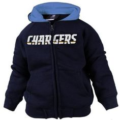 NFL Boys  San Diego Chargers Sportsman Zip Ft Fleece Hoodie 9937ebd22