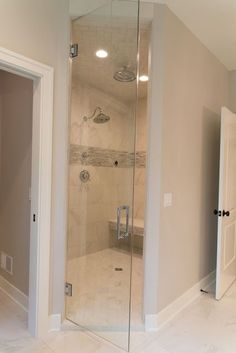 Real Fit Housewife: Welcome to my Home: Our Little Slice of Heaven Steam shower, dream shower, marble, herringbone, tile