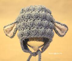 Crochet Lamb Hat Pattern