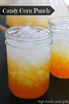 Candy Corn Punch! #recipe #Halloween #drink http://www.highheelsandgrills.com/2013/10/candy-corn-punch.html