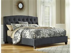 Bedroom Decor: Kasidon Queen Bed by Ashley Furniture at Kensington Furniture. I love the upholstered headboard!