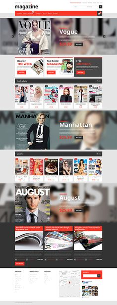 Fashion magazine #Magento #template. #themes #business #responsive #webshop