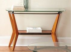 Glass-Top-Contemporary-Wood-Metal-CONSOLE-ACCENT-SOFA-TABLE-Storage-Display-Hall