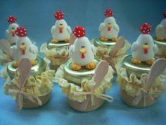 Potes decorados com biscuit #polymerclay #porcelanafria