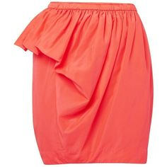 coral bubble skirt