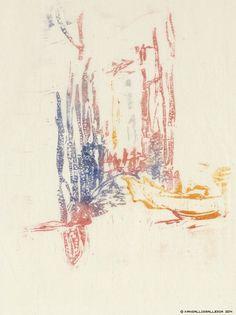Ellen Thesleff, Silta Venetsiassa, 1910-luku, väripuukaiverrus