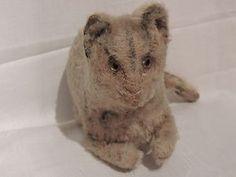 Steiff ! ? Katze mit Glasaugen um 1900 sehr selten