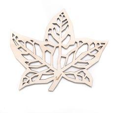 Wooden trivet   Maple leaf.  For fruit or by TreebirdWoodDesigns