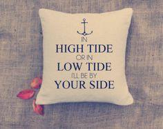 MOTHER'S DAY: Anchor Pillow - Custom Pillows - Nautical throw pillow - Home deco