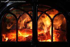 A Warm Cozy Fire in the Jotul Wood Stove Art Print - Premium Glossy Paper / 30 x 44