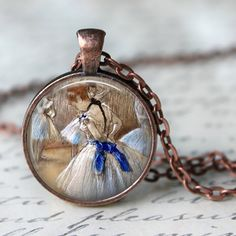 BALLET Necklace by Edgard Degas Pendant by LiteraryArtPrints