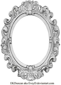Ornate Silver Frame - Long Oval by EveyD.deviantart.com on @deviantART