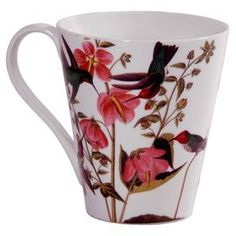 """Mug with a bird and floral motif.   Product: MugConstruction Material: PorcelainColor: MultiDimensions: 4"""" DiameterCleaning and Care: Hand wash only"""
