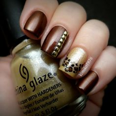 I <3 this brown color..and the gold accent color .. as well as the actual accents .. leopard print, and small little diamonds.
