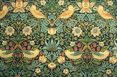 william morris wallpaper- strawberry thieves