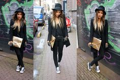 black is like my staple diet... i like the gloves and hat most ....shiiiiny clutch