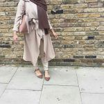 neutral hijab chic style