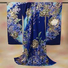 振袖 成人式 振袖 お誂え仕立付 正絹振袖 Marvelous(マーベラス)ブルー/薔薇と蝶