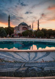 Hagia Sophia, Istanbul, Turkey - used to be a former Orthodox patriarchal basilica, later a mosque, and now a museum
