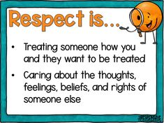 Respect Activities, Teaching Kids Respect, Counseling Activities, Student Teaching, Primary Teaching, Teaching Ideas, Respect Lessons, Guidance Lessons, Social Emotional Learning