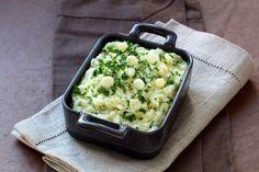 OKK Como fazer um saboroso purê de batatas com cebolinhas em 10 etapas. Receita passo a passo.