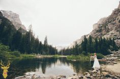 Fly fishing wedding!  Shannon & Thomas came out to Jackson to elope in Grand Teton National Park with some of their closest friends. When Shannon asked if I'd shoot in the park, of course I said yes right away, I shoot in the park all the time! When she asked about hiking up Cascade Canyon a ways, I said sure, why not…not really thinking about the gear I'd have to carry or asking how far 'a ways' might be. :)