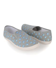 Canvas slippies with whales...too cute!