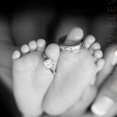 wedding rings baby picture