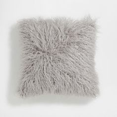 Image of the product Grey faux fur cushion cover