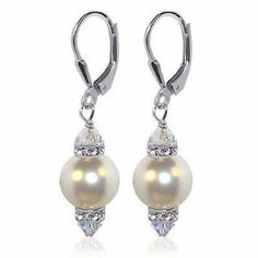 These earrings are soooo elegant and fashionable!  There's a little bit of sparkle around the top and bottom of the pearl, which is just wonderful. http://www.amazon.com/dp/B000PAGO8W/ref=nosim?tag=x8-20
