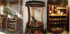 Butoaie de lemn transformate in mini-baruri excelente - http://ideipentrucasa.ro/butoaie-de-lemn-transformate-mini-baruri-excelente/