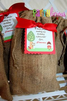 Little Red Riding Hood party favors