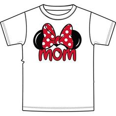Disney Adult Women T-shirt Minnie Mouse Ear Tee - Short sleeve cotton tee for women - Normal and comfortable fit/ not fitted - Puff ink - Officially licensed