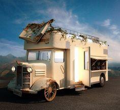 "A dream car called ""Bibliobus"" Little Free Libraries, Free Library, Library Ideas, Mobile Library, Cool Bookshelves, Shandy, Home Libraries, Cartography, Book Nerd"