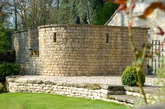 A wonderful dry stone wall private seating area by the Llama Landscapers www.llamadevelopments.co.uk