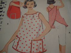 Vintage 1960's Butterick 9193 Apron Sewing Pattern by TheLastPixie, $10.00