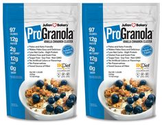 Delicious High Protein Granola Cereal (Gluten Free, Grain Free, Soy Free)  1 Bowl (37g)= 97 Calories, 12g Egg White Protein & 2 Net Carbs (GMO Free)  Low Carb, High Fiber, and High In Protein (15 Servings Per Bag 30 Total) (2 Pack)  Delicious, Crunchy, Vanilla Cinnamon Taste That Curbs Appetite Without Bloating  IKDiet Compliant (Phase 1 & 2) Organic Seeds, No Junk (Sugar Free : Monk Fruit Sweetened)