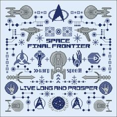 Star Trek pillow sampler - Pillow Samplers - Big Patterns - Cross Stitch Patterns - Products