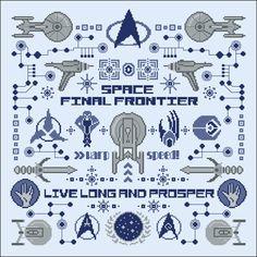Star Trek pillow sampler - Big Patterns - Cross Stitch Patterns - Products