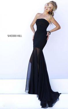 Black Bandage Chiffon Prom Dress Sherri Hill 32167