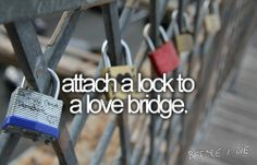 This is a bridge in Paris. You hang locks on it with the name of you  your boyfriend/girlfriend/best-friend then throw the key into the river. So even though the friend/relationship may end, you cant remove the lock. It stays there forever, as relevance to someone once a part of your life. -- Totally just added this to my bucket list!