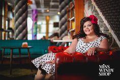 Sittin' pretty (c) misswindyshop.com #vintagestyle #dress #polkadot #beautiful #petticoat #plussize #everydayisadressday #dressrevolution