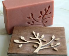 make your own soap and decorate with a wood stamp