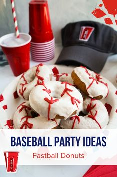 Perfect ideas for every baseball party. Birthday Party Planner, 1st Birthday Parties, Boy Birthday, Birthday Themes For Boys, Birthday Cakes For Men, Baseball Birthday, Baseball Party, Sports Snacks, Captain America Birthday
