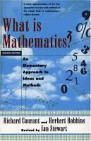 What is mathematics? : an elementary approach to ideas and methods  	 by Richard Courant and Herbert Robbins.