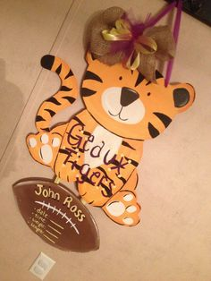 LSU tiger baby hospital door hanger! Geaux Tigers!